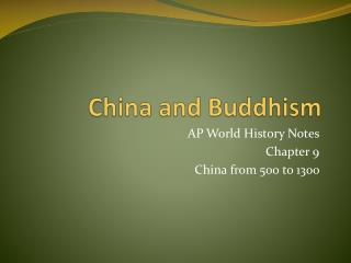 China and Buddhism