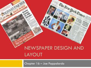 Newspaper Design and Layout