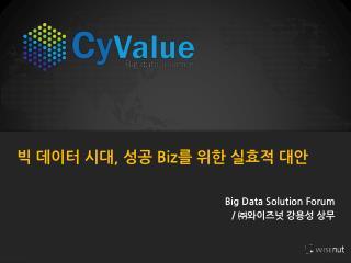 Big Data Solution Forum  /  ㈜와이즈넛  강용성 상무