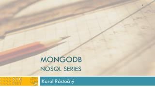 MongoDB NoSQL  series
