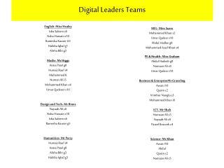 Digital Leaders Teams