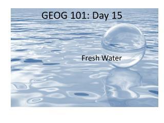 GEOG 101: Day 15