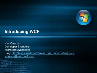 Introducing  WCF