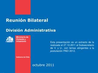 Reunión Bilateral División Administrativa