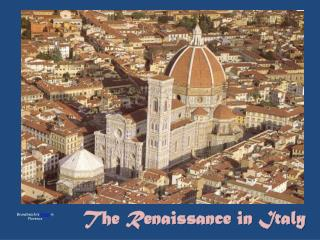 The Renaissance in Italy