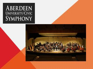 The Aberdeen University/Civic Symphony is a 50-member college community orchestra
