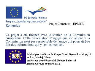 Projet  Comenius - EPEITE