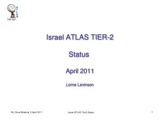 Israel ATLAS TIER-2 Status  April 2011 Lorne Levinson