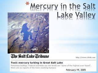 Mercury in the Salt Lake Valley