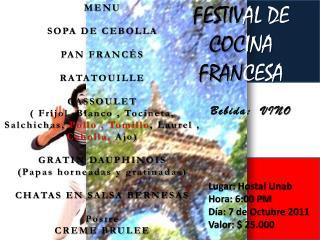 FESTIV AL DE  COC INA  FRAN CESA