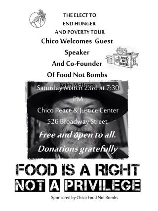 THE ELECT TO END HUNGER  AND POVERTY TOUR