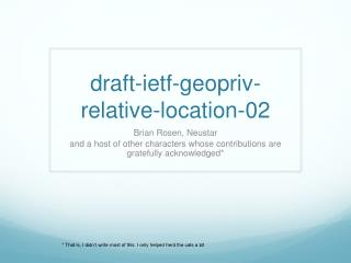 draft-ietf - geopriv-relative-location-02