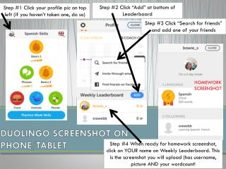 DUOLINGO SCREENSHOT ON  PHONE/TABLET