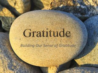 Building Our Sense of Gratitude