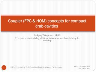 Coupler (FPC & HOM) concepts for compact crab cavities
