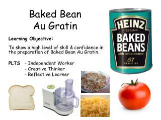 Baked Bean  Au Gratin
