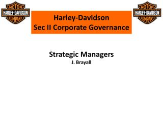 Harley-Davidson Sec II Corporate Governance