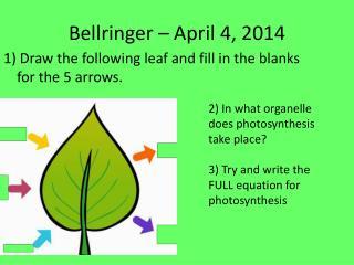 Bellringer  –  April 4,  2014