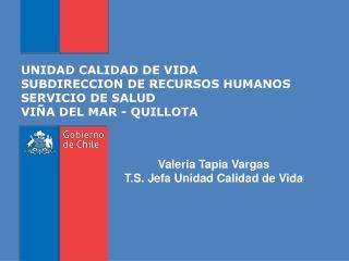 UNIDAD CALIDAD DE VIDA SUBDIRECCION DE RECURSOS HUMANOS SERVICIO DE SALUD VIÑA DEL MAR - QUILLOTA