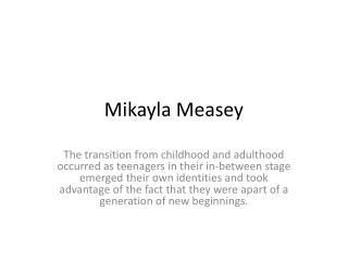 Mikayla Measey