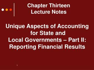 Chapter Thirteen Lecture Notes
