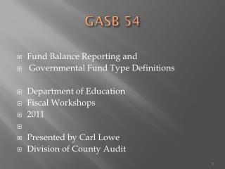 GASB 54
