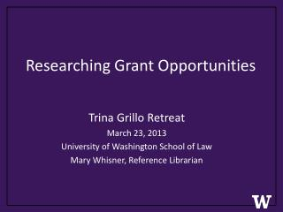 Researching Grant Opportunities