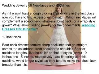 Wedding Jewelry - 5 Necklaces and Necklines