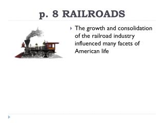 p. 8 RAILROADS