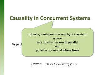 Causality in Concurrent Systems
