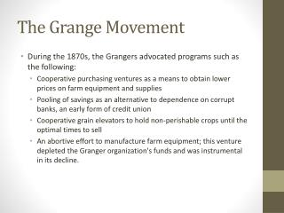 The Grange Movement
