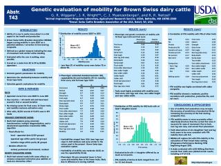 PTA mobility was highly correlated with udder composite.