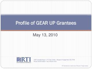 Profile of GEAR UP Grantees