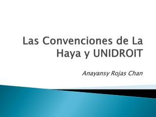 Las Convenciones de La Haya y UNIDROIT