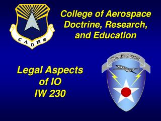 Legal Aspects of IO IW 230