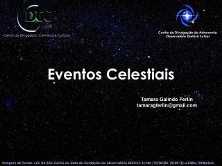 Eventos Celestiais