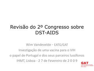 Revisão do 2º Congresso sobre DST-AIDS