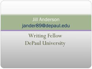 Jill Anderson jander89@depaul.edu