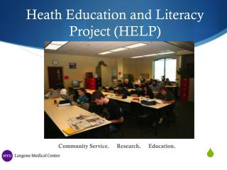 Heath Education and Literacy Project (HELP)