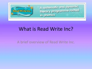 What is Read Write Inc?