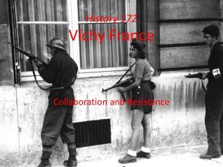 History 172 Vichy  France