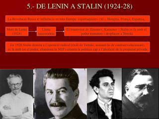 5.- DE LENIN A STALIN (1924-28)