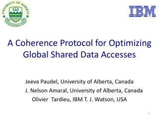 A  Coherence Protocol for Optimizing Global Shared Data Accesses