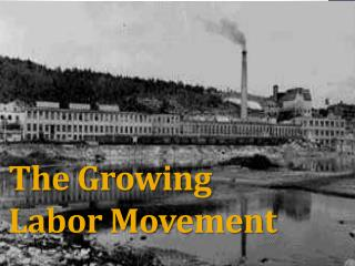 The Growing  Labor Movement
