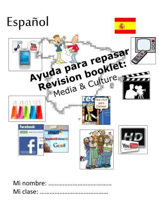 Ayuda para repasar Revision booklet: Media & Culture