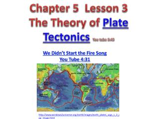 Chapter 5  Lesson 3 The Theory of  Plate Tectonics You tube 5:43