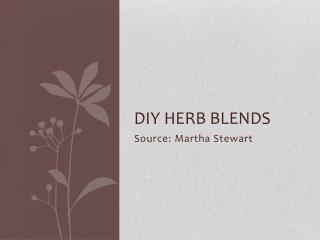 DIY Herb blends