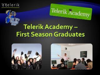 Telerik Academy – First  Season Graduates