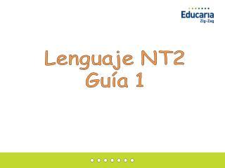 Lenguaje  NT2 Guía  1