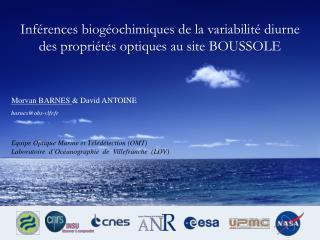 Inférences biogéochimiques de la variabilité diurne des propriétés optiques au site BOUSSOLE